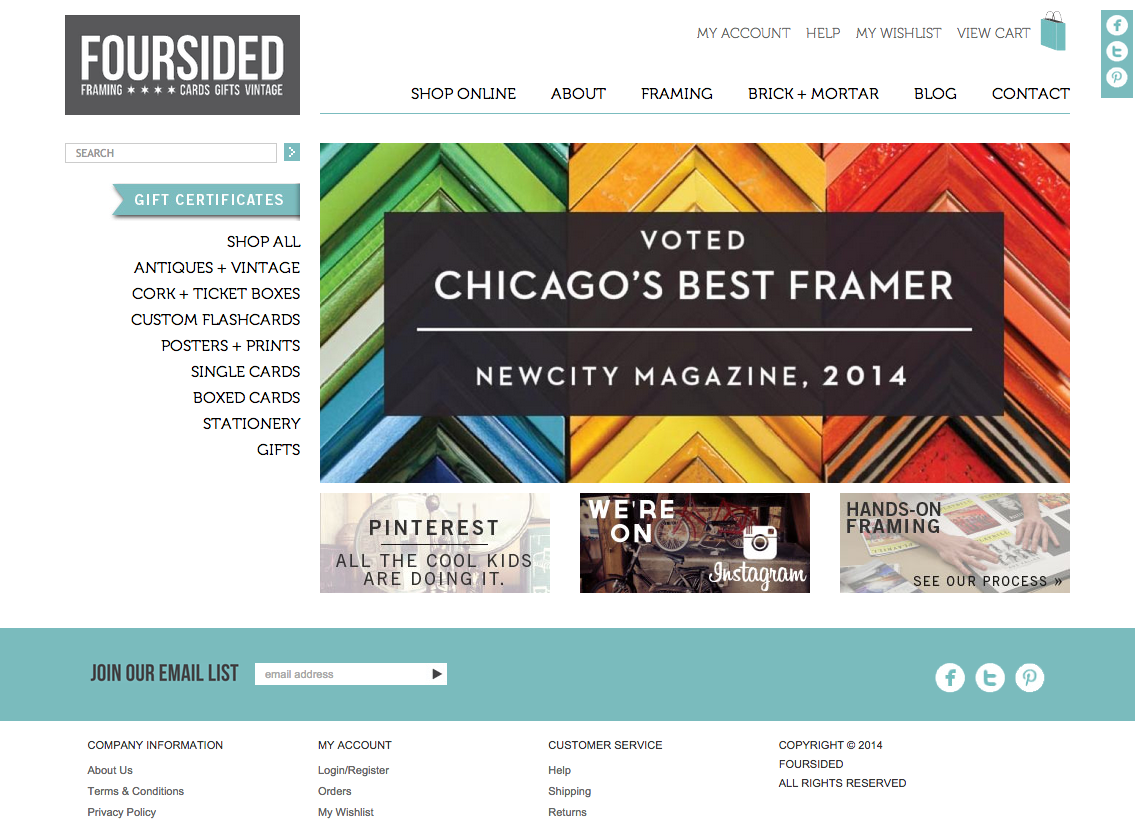 Foursided Site Design Teresa Therrien | Art Direction • Graphic ...
